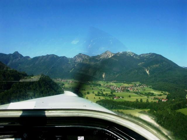 Vor uns Breitenstein und Geigelstein